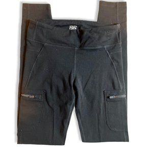 Athleta Black Workout Leggings w/ Zipper Pockets